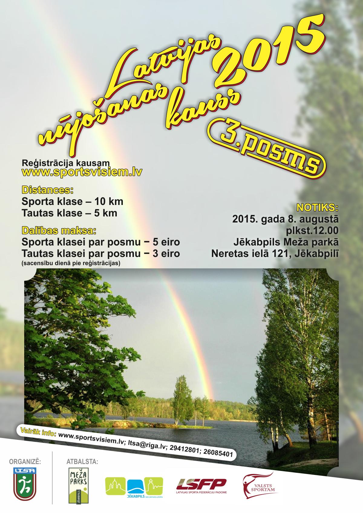 Latvijas Nūjošanas kauss III posms Jēkabpils